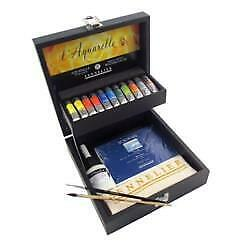 Sennelier French Artists' Watercolour Wooden Box Set No N131650