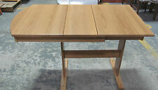 Hide A Leaf Dinette Table Ash Hardwood Stained Honey Oak Heartland RV Motorhome
