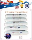 5 X Inline Carbon Fridge Water Filters - Suit LG, GE, Bosch, Westinghouse