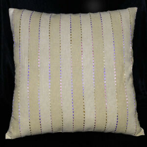 na03a (Ginger Stripe) High Quality 100% Pure Linen ECO Cushion Cover/Pillow Case