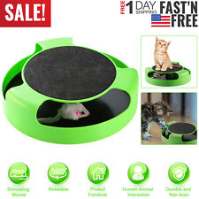 Interactive Cat Toy Rotating Mouse Hide And Seek Automatic Mice Catch Toy