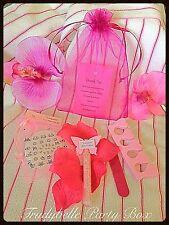 Spa Niñas Adolescentes Rosa Caliente/MIME/Fiesta De Pijamas Fiesta gracias bolsas llenas de 5 artículos