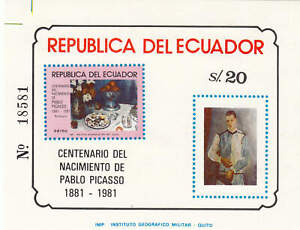 Ecuador - 1981 - SC 1017A,C728-31 - H/NH - 2 Souvenir sheets +3 NH stamps
