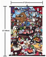 1996 Anime game Neko Atsume  NekoAtsume Wall Scroll Home Decor Poster  Cosplay