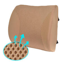 Lumbar Pillow Cushion for Car Office Home Mesh Breathable Beige Back Support