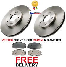 Front Delphi Brake Discs 294mm Vented Pair Set Fits Hyundai Santa Fe 2.0 CRDi