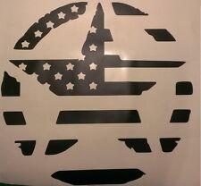 Military Star American Flag Hood Decal Jeep Wrangler JK CJ TJ JKU Car Truck USA