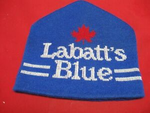 LABATT'S BLUE KNIT WINTER HAT - EXCELLENT CONDITION NEVER WORN