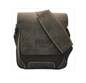 Large Brand New Leather Pol Men's Crossbody Shoulder Messenger Bag Handbag