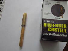 early Celluloid/Bakelite fountain pen,Marked 'A' with older bottle Higgins ink