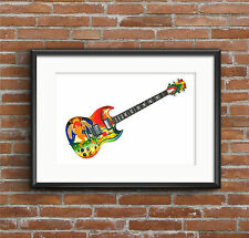 Eric Clapton's Gibson SG Fool guitar POSTER PRINT A1 size