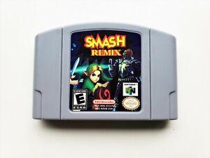 Smash Remix Nintendo 64 Mod / Hack of Smash Bros N64 Gray Cart (USA Seller)