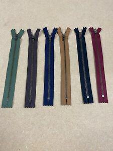 "YKK Zip 20cm/8"" No. 3 ANTIQUE BRASS METAL Close Ended - Jeans ETC"
