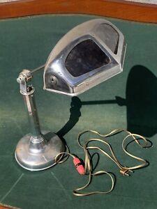 Lampe PIROUETT DE BUREAU art déco 1930 En Laiton Chromé Modèle Rare