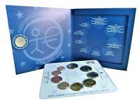 Italien 1 Cent bis 2 Euro 2009 KMS 2 Euro WWU EMU Wirtschaftsunion im Folder