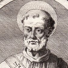 Portrait XVIIIe Urbain Ier Evêque Rome Papa Urbano Ier Vescovo Di Roma
