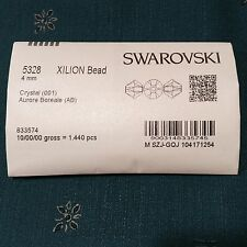 48 Sapphire AB Swarovski Crystal Beads Bicone 5328 4mm