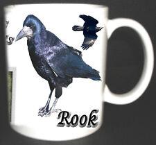 ROOK GARDEN BIRD DESIGN MUG LIMITED EDITION GIFT.Corvus frugilegus. Corvidae