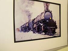 Union Pacific Big Boy Climbing Sherman Hill WY  Artist Railroad Archives bt