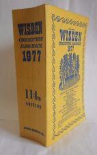 1977 WISDEN CRICKETERS ALMANACK LINEN - VERY GOOD CONDITION