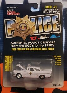 RACING CHAMPIONS POLICE U.S.A. ** 1956 FORD VICTORIA COLORADO STATE POLICE ** #1
