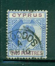 CYPRUS 41 SG53 Used 1903 2pi blue & purple KEVII Wmk Crown CA Cat$18