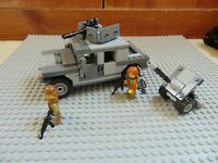 Custom LEGO Humvee & Anti Aircraft cannon With Minifigures.