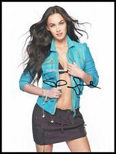 Megan Fox, Autographed, Pure Cotton Canvas Image. Limited Edition (MF-13)