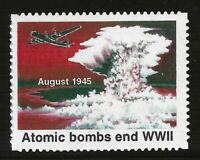 """ATOMIC BOMB ENDS WWII - 1995 U.S. POSTAGE """"STAMP"""" (TYPE 4) - MINT CONDITION"""