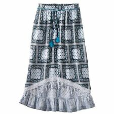 Pirates of the Caribbean: Dead Men Tell No Tales Printed High-Low Maxi Skirt 7/8