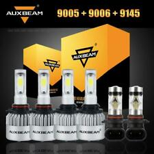 6pcs Auxbeam 9005+9006+9145 H10 LED Headlight Fog for Jeep Grand Cherokee 05-10