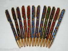 Wholesale10pcs Chinese Handmade vintage Flower Enamel Cloisonne Ball Pen