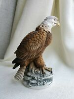 American Bald Eagle by Andrea Sadek made in Japan Bird porcelain figurine 7-1/4""