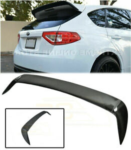 Carbon Fiber Add On Wing For 08-14 Subaru Impreza WRX STI Hatch Rear Spoiler