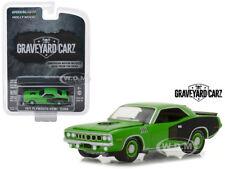 "1971 PLYMOUTH HEMI CUDA GREEN ""GRAVEYARD CARZ"" 1/64 DIECAST GREENLIGHT 44800 E"