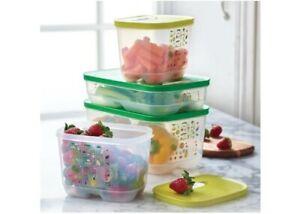 Tupperware FridgeSmart 4 Piece Set Fruit Veggie Containers