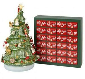 Villeroy And Boch Christmas 26 Piece Advent Calendar 3D Tree Set Bnib Decoration