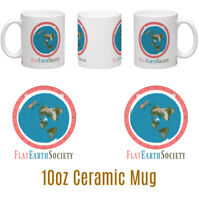 Flat Earth Society Personalised 10oz Ceramic Mug Birthday Christmas Gift
