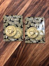 HE Harris Presidential Dollars P&D VOL #1 & #2 2007-2017 Coin Folders Album Book