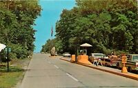 Indiana Dunes State Park Chesterton Indiana IN park entrance old cars Postcard