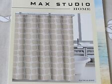 Max Studio Nautical Knot Rope Beige/White Fabric Shower Curtain (Matches Quilt)