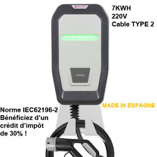 Chargeur Wallbox Cable intégré 32A 7KWH MONOPHASE TYPE 2 Norme IEC62196-2