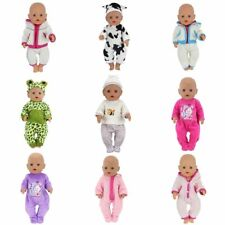 Baby Doll Clothes Fit 17 inch Girls Dolls Dress 43cm Pajamas Jump Suits Fashion