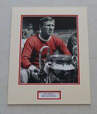 PAT CRERAND Manchester United 1968 HAND SIGNED Photo Mount Display + COA Man Utd