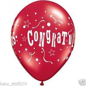 "Congratulations Latex Balloons, 11"" Party Decor Graduation Wedding Retirement 10"