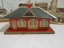 Vintage Marx Girard Station Train Depot Building Tin Lithograph O Scale -PLUS