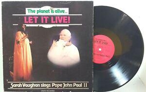 Sarah Vaughan Sings Pope John Paul II - The Planet is Alive... Let it Live!