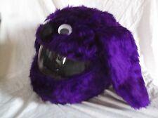 Moto Gracioso silenciosos Loco Crash CASCO CUBRE MOTORCYCEL púrpura perro