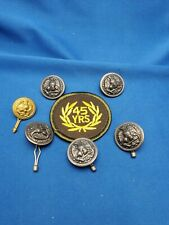Vintage WB Co Eagle Buttons Stars USA Military Anchor Silver Tone Navy