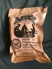 MRE Menu 17 Pork Sausage Patty Maple Flavored